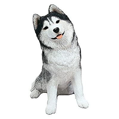 Sandicast Sculpture, Gray Siberian Husky