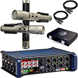 Zoom F8 Multi-Track Field Recorder Bundle with Shure KSM137/SL Stereo Pair of Condenser Instrument Microphone