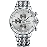 Edox Men's 01120 3M AIN Les Bemonts Analog Display Swiss Automatic Silver Watch