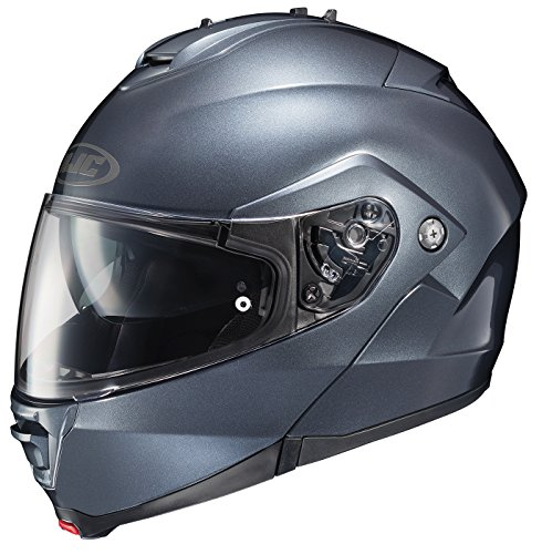HJC Unisex-Adult's Modular IS-Max II SF Anthracite Helmet (Semi Flat Anthracite, Medium) ()
