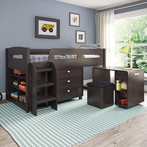CorLiving BMG-270-B Madison Loft Bed, Single/Twin, Rich Espresso