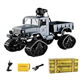 RC Car Remote Control, Beatie FY001B 1:16 2.4G Radio Controlled 4WD All Terrain RC Crawler Car Truck Buggy Car with Snow Tyres, Front Lights with RTR, LED Camera, WiFi Norme Normale