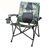 Strongback Elite Camo & Black Folding Camp Chair with Superior Back Support
