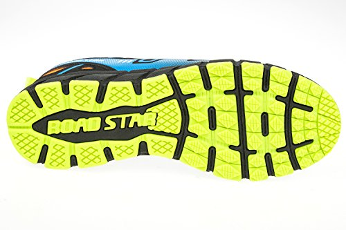 gibra - Zapatillas de running de Material Sintético para hombre neonorange/blau