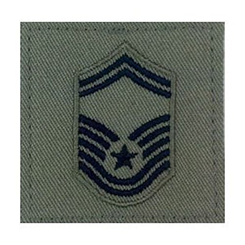 (Sage Green AIR FORCE Rank Insignia - E-8 SENIOR MASTER SERGEANT)