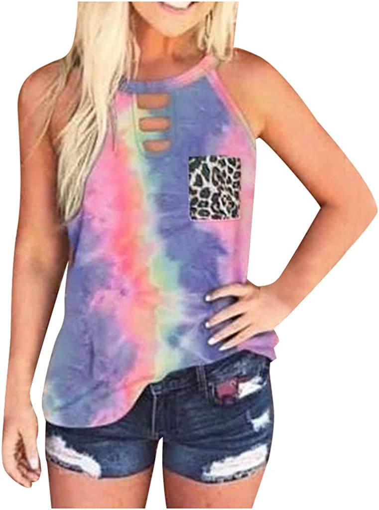 Ladies tie dye strap//string top Blue and Purple Heart  by  sunshine Clothing.