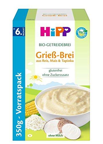 HiPP Bio-Getreide-Breie Grieß-Brei, 4er Pack (4 x 350 g) 2930
