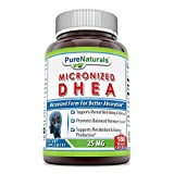 Pure Naturals DHEA Micronized Capsules, 25 mg, 180 Count