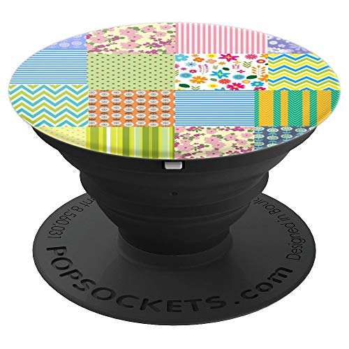 Cute Quilting Gift for Women Mom Quilter Quilt Lover Grandma - PopSockets Grip and Stand for Phones and Tablets