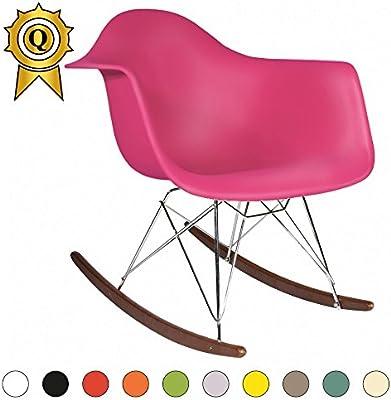 Enjoyable Decopresto 1 X Rocking Chair Scandinavian Legs Walnut Color Pdpeps Interior Chair Design Pdpepsorg