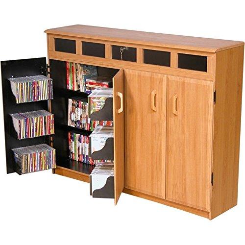 Top Media Storage Load - Venture Horizon Top Load CD DVD Media Storage Cabinet- Black