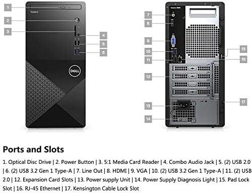 Dell Vostro 3888 Business Desktop Computer_ Intel Hexa-Core i5-10400 up to 4.3GHz (Beats i7-7700)_ 16GB DDR4 RAM_ 512GB PCIe SSD + 1TB HDD_ DVDRW_ 802.11AC WiFi_ Bluetooth_ HDMI_ VGA_ Windows 10 Pro