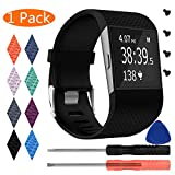 Best Kits For Fitbits - KingAcc Fitbit Surge Bands, Silicone Accessory Replacement B Review