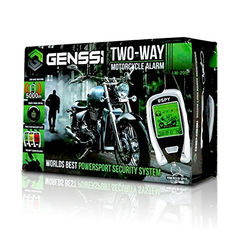 - 2-Way LCD Motorcycle Alarm Pager with Remote Engine Start and Proximity Sensor for all Bikes Universal