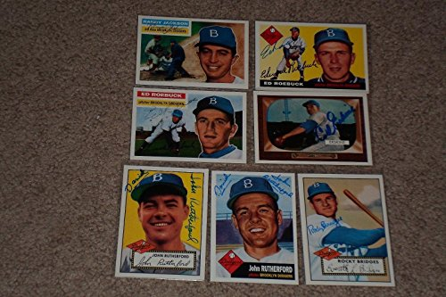 Lot Of (7) 1995 Topps Archives Brooklyn Dodgers Signed Autographed Cards - Baseball Slabbed Autographed Cards (Brooklyn Baseball Dodgers Autographed)