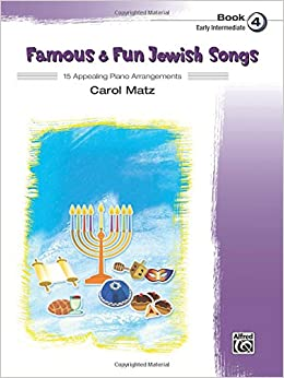 Book Famous and Fun Jewish Songs, Bk 4: 15 Appealing Piano Arrangements