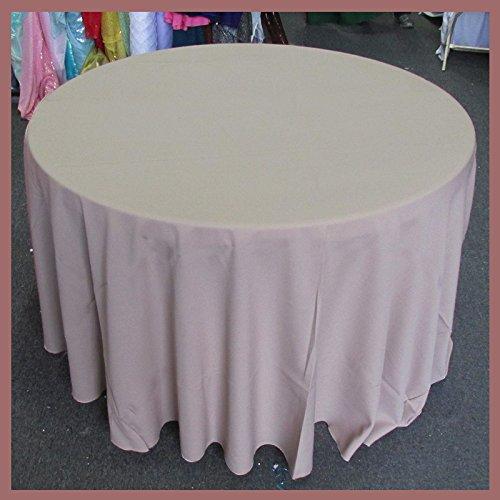 (Newstar Tablecloth Round 120 inches Poly Poplin/Polypoplin / Polyester/Gabardine / Linens, Khaki Wedding Party Supplies, Tablecloth Cover ... )