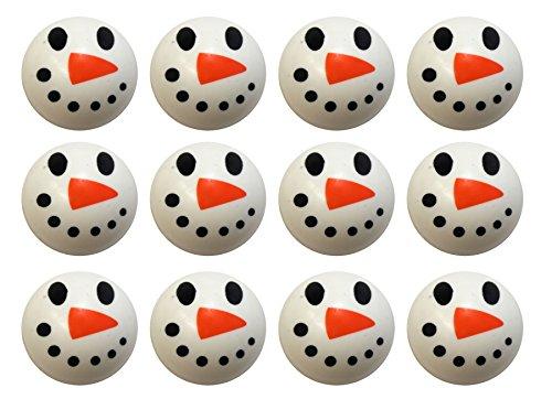 Bulk 12 Snowman Bouncy Balls - Winter Party Supplies Favor Set - 12 (Bouncing Snowman)