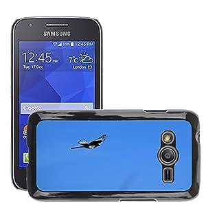 Etui Housse Coque de Protection Cover Rigide pour // M00116292 Elster pájaro mosca Pica Pica Vuelo // Samsung Galaxy Ace4 / Galaxy Ace 4 LTE / SM-G313F