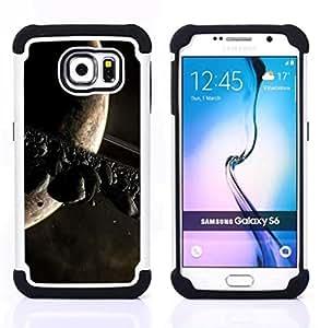 For Samsung Galaxy S6 G9200 - Asteoid Belt Moon Saturn Alien Planet Universe /[Hybrid 3 en 1 Impacto resistente a prueba de golpes de protecci????n] de silicona y pl????stico Def/ - Super Marley Shop -