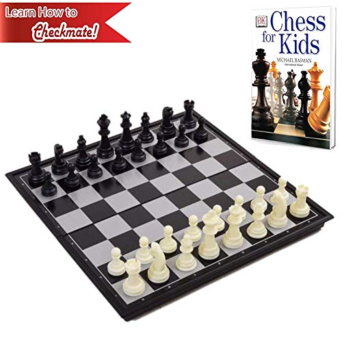 Chess Board for Kids with Chess Book for Beginners - Chess Set Learning Bundle for Kids