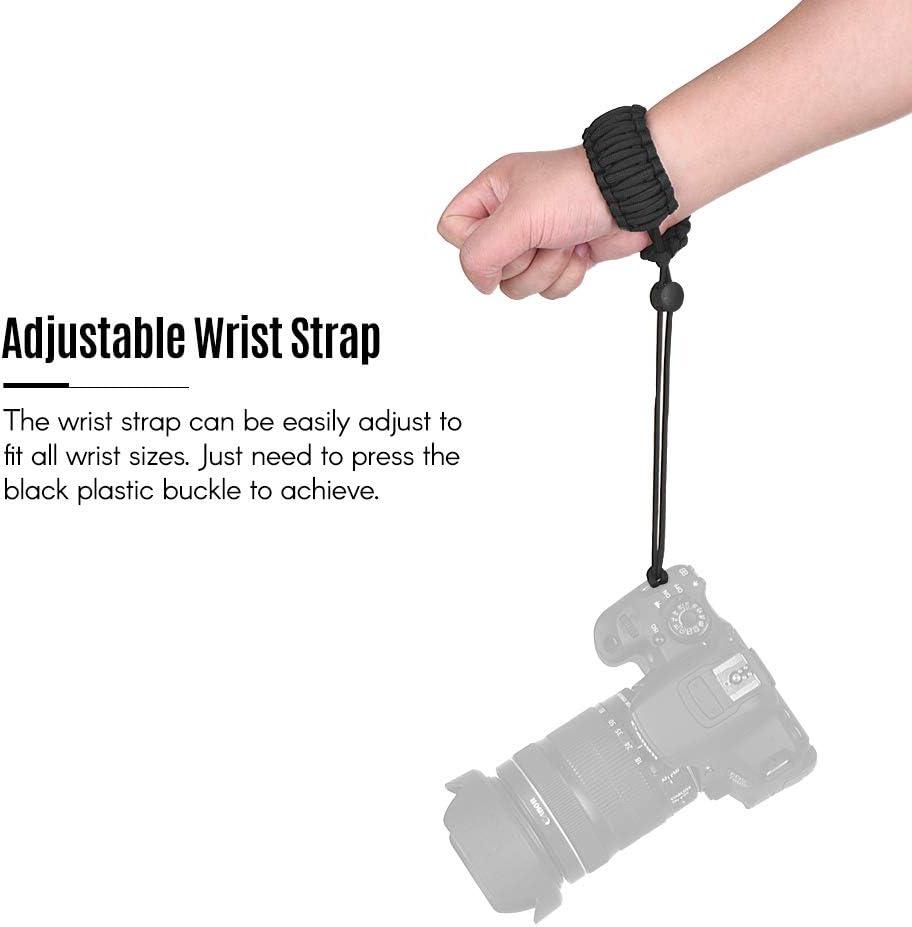 Orange Festnight Adjustable Braided Paracord Camera Wrist Strap Lanyard for Canon Nikon Sony DSLR ILDC Cameras Binoculars