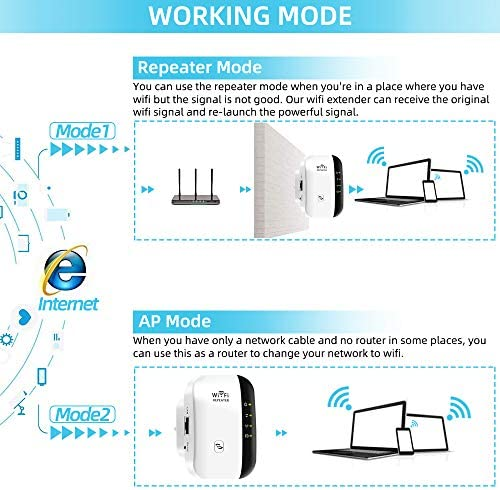 WiFi Signal Booster,Super Boost WiFi, WiFi Range Extender ,Up to 300Mbps