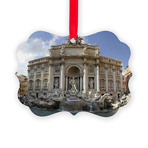 CafePress Rome - Trevi Fountain - Panorama Christmas Ornament, Decorative Tree ()