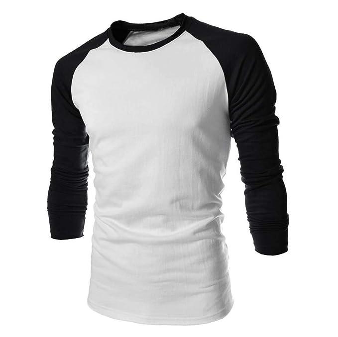 Bestow Camiseta de Manga Larga de Hombre Camiseta de Algodón Lisa de Blusa a Juego de Hombre Camiseta de Invierno: Amazon.es: Ropa y accesorios