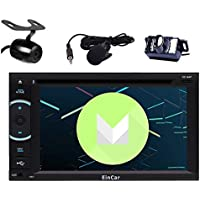 Free Front & Backup Camera! Quad Core Android 6.0 Car DVD Player Double Din Car Stereo with GPS Navigation In Dash Bluetooth WiFi Radio Audio System Support Mirrorlink with External Microphone