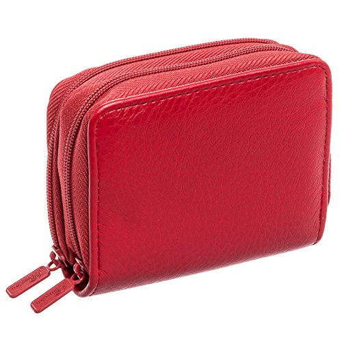 Buxton Womens RFID Identity Safe Card Wizard Wallet (Red) by Buxton