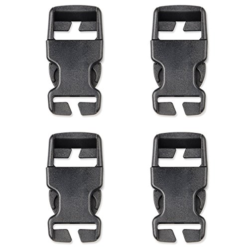 DYZD Multi-Size Plastic Buckle Repair Kit Quick Release Buckles No Sewing Required Buckles for Backpack Bag (4pcs Black,25 mm) ()