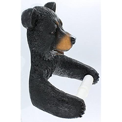 Hugo The Helper Black Bear Bathroom Toilet Paper Holder DWK