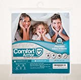 Comfort Armor Pillow Protector King Size (1) Premium Hypoallergenic Bed Bug Proof Zippered
