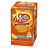 Metamucil Orange Sugar Free Smooth Texture Powder Packets 44-Count (Pack of 6)