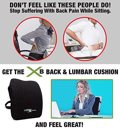 Xtreme Comforts Original Coccyx Orthopedic Memory Foam Seat Cushion with 100% Memory Foam Lumbar Cushion by Xtreme Comforts (Image #5)