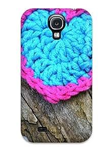 New DSJGYDU3964owxAJ A Wicker Heart Skin Case Cover Shatterproof Case For Galaxy S4