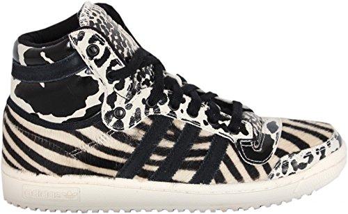 adidas Top Ten Hi W (weiß / schwarz) Schwarz / Weiß / beige