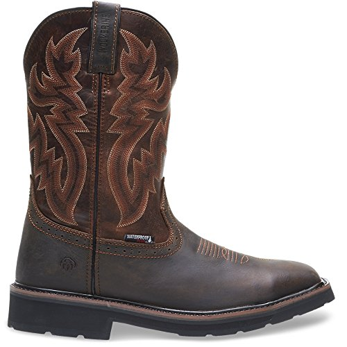 Wolverine Men's Rancher Wpf Soft Toe Wellington Work Boot,Dark Brown,9 D US