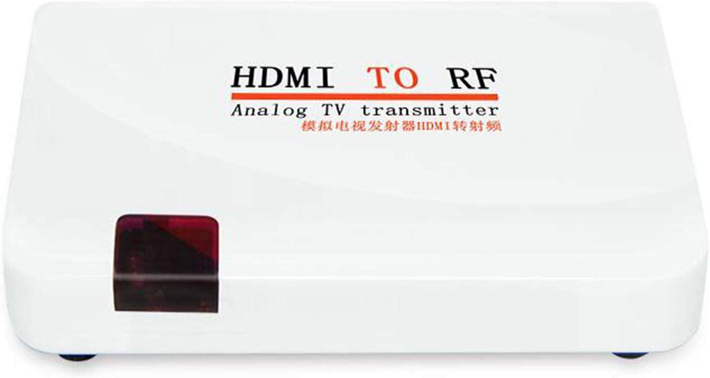 Lazmin Convertidor coaxial de HDMI a RF, Adaptador de Video 1080P Entrada de Soporte Resolución HDMI: ...
