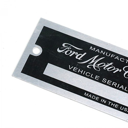 Vintage Parts 315271 Ford VIN Plate - Small