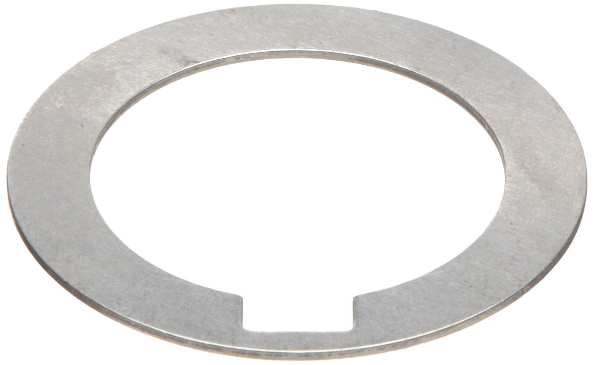 1008/1010 Carbon Steel Notched Shim Assortment, Matte Finish, Hard Temper, AISI 1008/AISI 1010, Varying Thicknesses, 1-3/8'' ID, 1-7/8'' OD (Pack of 19) by Small Parts