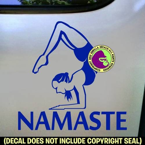 NAMASTE Yoga Scorpion Pose Vinyl Decal Sticker E