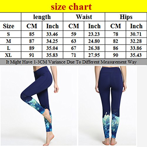 Zhhlinyuan Outdoor Casual Yoga Pants Womens Fitness Tights Leggings LWQ-0139 Multi