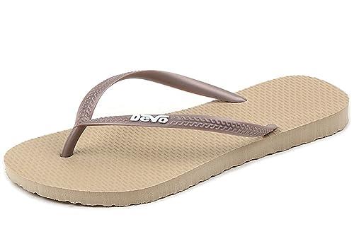b6c7e9159 MT-DEVO Womens Super Light Comfort Foam Flip Flops Summer Slippers 4 US  Apricot