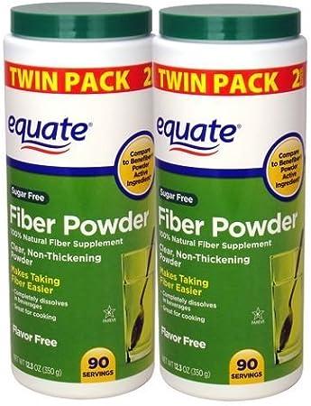 Equate Sugar-Free Fiber Powder - 90 Servings, 12.3 oz (2 pack)