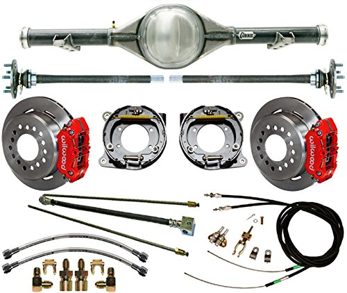 """NEW CURRIE 63-70 CHEVY C-10 TRUCK 2WD 5-LUG REAR END WITH WILWOOD DISC BRAKES, 11"""" ROTORS, RED CALIPERS, LINES, PARKING BRAKES, AXLES, BEARINGS 1963 1964 1965 1966 1967 1968 1969 1970 CHEVROLET C10 -  Southwest Speed, GMC6370X5-K5"""