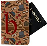 Vintage Hipster Passport Holder - Fabric (Personalized)