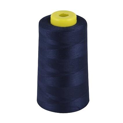 2 Black//White Industrial Overlock Sewing Machine Polyester Thread Each 5000 yard