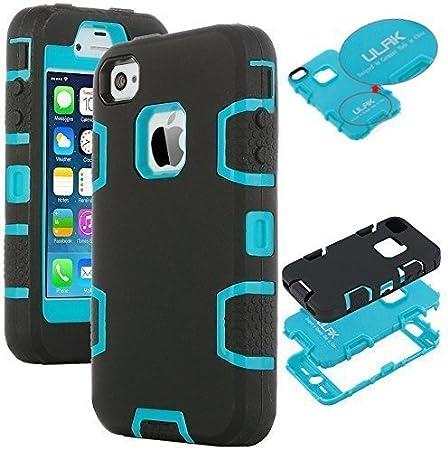 ULAK Coque iPhone 4S, iPhone 4 Coque Housse Étui Hybride 3 en 1 ...